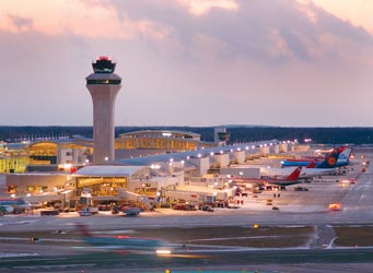 Detroit Metropolitan Airport Air Traffic  Control Tower Base Building
